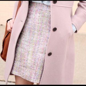 J. Crew | Pink, Green and Blue Tweed Mini Skirt